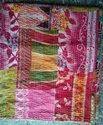 Vintage kantha quilt Queen size