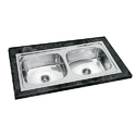 37x18x8 AMC Double Bowl Sink