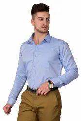 Formal Wear DESIGN UP Sky Blue Plain Formal Shirt