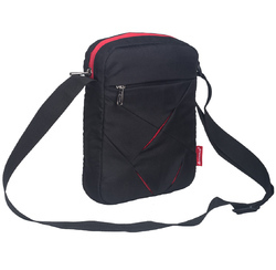 Black & Red Messenger Sling Bag for Men