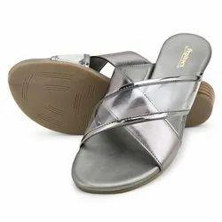 Pepitoes Causal Wear Bronze Comfort Slip-On Flat Sandal, Size: 36-42