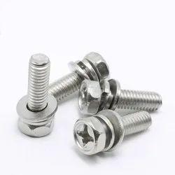 PGS Galvanized Stainless Steel Hex Phillips Head Machine Screw, Size: M3 - M12