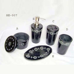 Black Ceramic Bath Set