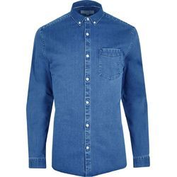 Small And Large Plain Denim Full Sleeve Shirt