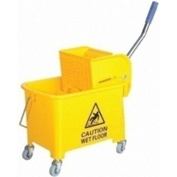 587850a628 Plastic Single Bucket Mop Wringer Trolley 35 Litres Capacity