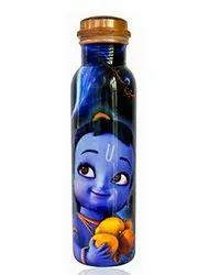Krishna Digital Print Copper Bottle