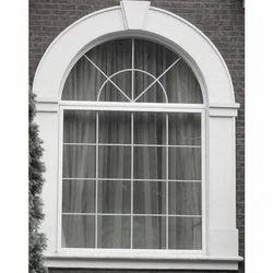White GRC/ GFRC Arch Window Molding for Decoration