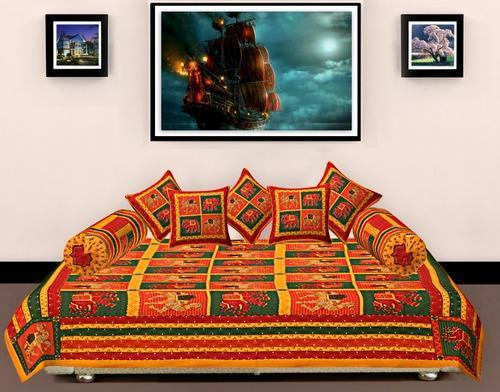 Katha Work Diwan Set Bed Sheet