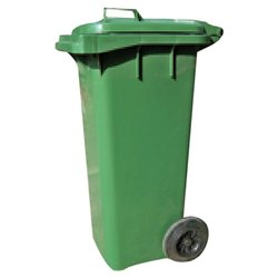 PVC Green Wheel Dustbin