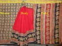 Formal Wear Cotton Kalamkari Saries - Block Hand Printing With Blouse Piece