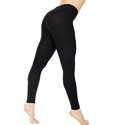 Ladies Black Plain Ankle Length Legging