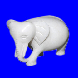 Marble Alabaster Elephant Sculpture