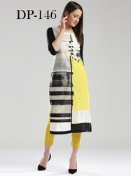 Long Fancy Crepe Kurti