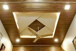Brown and White PVC Fall Ceiling For Office And Hospital, Thickness: 4-12 mm