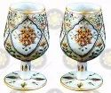 White Marble Handicraft Champagne Glass