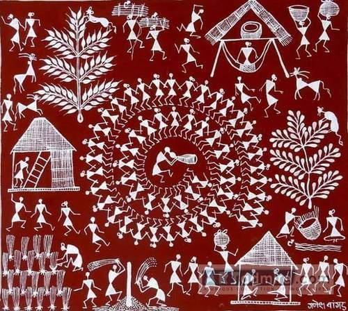 Warli painting at rs 4000 piece kandivali east mumbai id warli painting thecheapjerseys Image collections