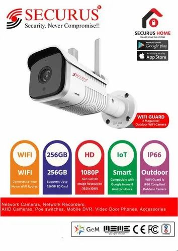 SECURUS Digital Camera WIFI GUARD, Model Name/Number: Outdoor Smart Ip Camera, for Outdoor Use