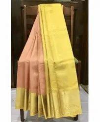 KS015 Kanjivaram Silk Saree, -6.2 metres ( With Blouse)