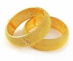 Yellow Gold Bengals 22kt Gold Bangles