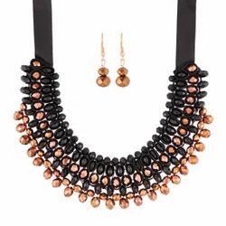 Multicolor Jewelmaze Crystal Partywear Necklace Set