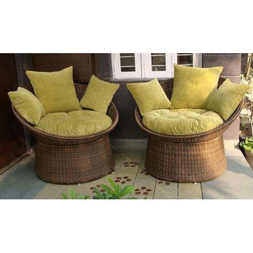 Charmant Bamboo Papasan Lounge Chair Set