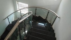 Spiral Staircase Glass Handrails
