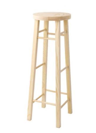 Exceptionnel Wooden High Stool Chair Bar Furniture For 1