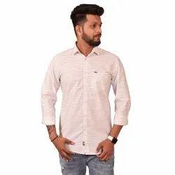 Casual Wear Pink Stripe Print Shirt