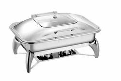 SS 304 GLASS LID CHAFING DISH