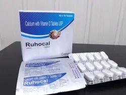 Calcium Carbonate 500mg Vitamin D3 250 I.u.Tablet