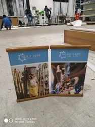 L Mini Table Top Banner Stands