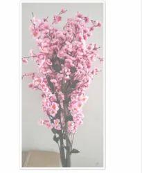 Plastic Pink Artificial Flower Plant