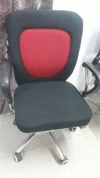 Leather Red And Black Revolving Office Chair