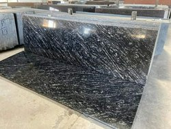Polished Big Slab Black Markino Granite, For Flooring, Thickness: 15-20 mm