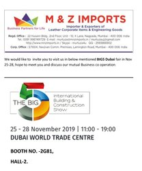 BIG5 Dubai fair in Nov 25-28-2019