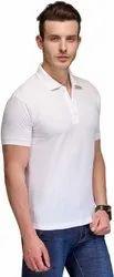 White Polo Neck Cotton T Shirt