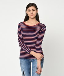 Striped Women T-Shirt