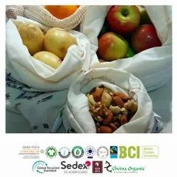 Natural Recycle Cotton Vegetable Bags