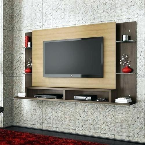 Wood frame residential tv wall unit rs 700 square feet - Led panel designs furniture living room ...
