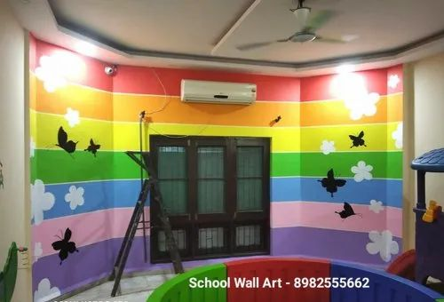 Cartoon Wall Painting Designs Artist In Indore School Wall Painting Service Indore Id 21526250873