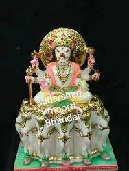 Jain Manibhadra Marble Statue