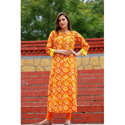 Designer Long Cotton Kurti