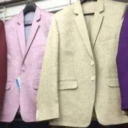 Regular Fit Cotton, Linen Mens Party Wear Coat