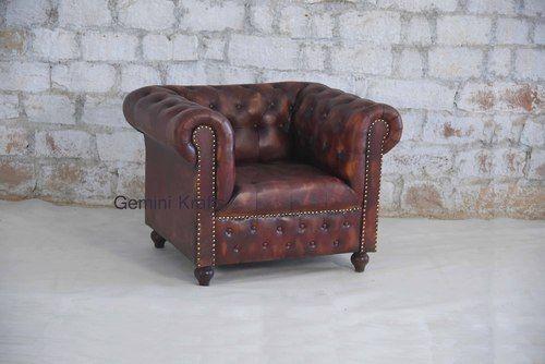 Leather Gemini Krafts Chesterfield Sofa