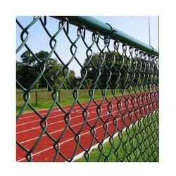 Cast Iron PVC Coated Chain Link Mesh Fence, For Fencing