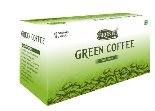 Gruner Green Coffee Bean Powder 30 Sachet Tulsi Flavor Weight 90