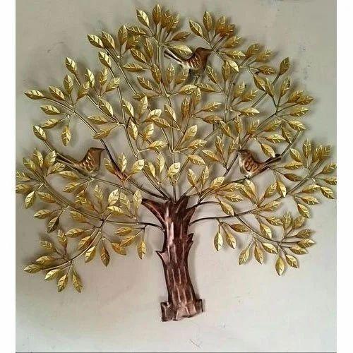 Golden Tree Hanging Wall Decor