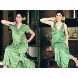 Ladies Two Piece Light Green Nighty