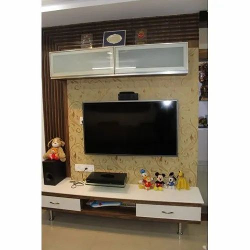 Teak Wood Wall Mounted Modern Tv Wall Unit Max Tv Screen Size 50 59 Inch Rs 700 Square Feet Id 21192369988