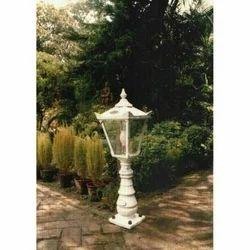 Small White Garden Lamp Post